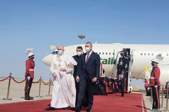 Pope Francis Lands in Baghdad, Marking First-ever Papal Visit to Iraq