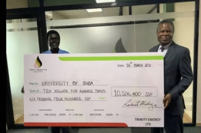 TRINITY ENERGY PAYS OVER SSP 10M IN TUITION FEES TO UNIVERSITY OF JUBA