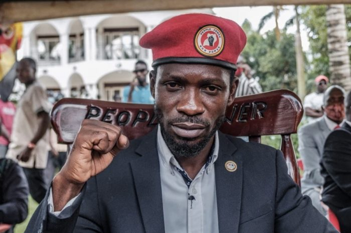 Uganda's opposition leader Bobi Wine arrested during protest
