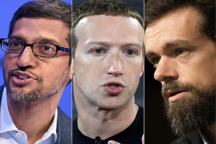 Facebook, Twitter and Google CEOs grilled by Congress on misinformation