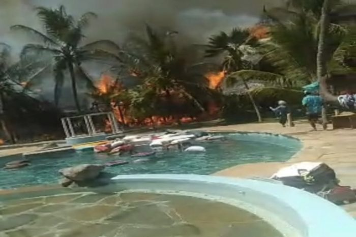 Fire razes down Oasis Hotel in Malindi