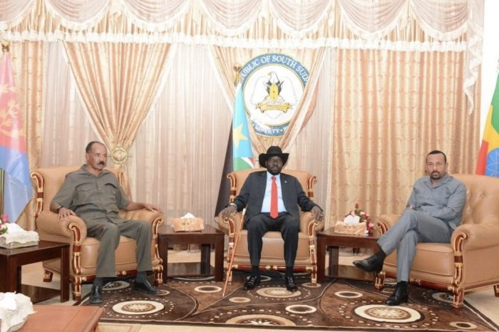 Ethiopian P.M., Eritrean president visit Juba to discuss Eritrean troop pullout, stalled GERD talks amidst other issues