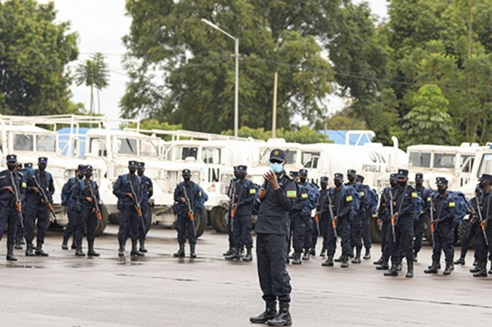 PEACEKEEPING: IGP Munyuza briefs 240 Police officers ahead of South Sudan contingent rotation