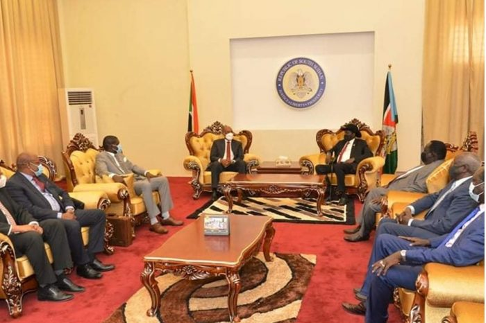 Kiir welcomes Sudan's Al Buhran in Juba for peace talks with holdout oppositions