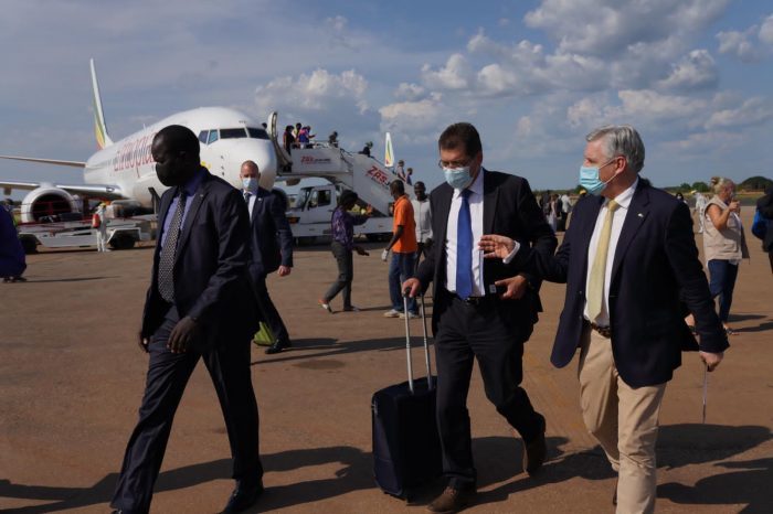 European Union Commissioner for Crisis Management arrives in Juba