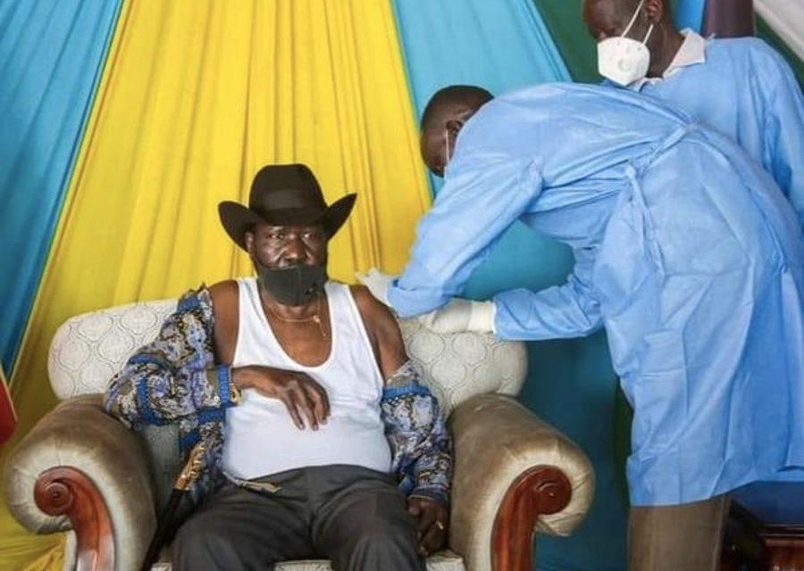 Kiir cleared the air, took AstraZeneca vaccine jab.