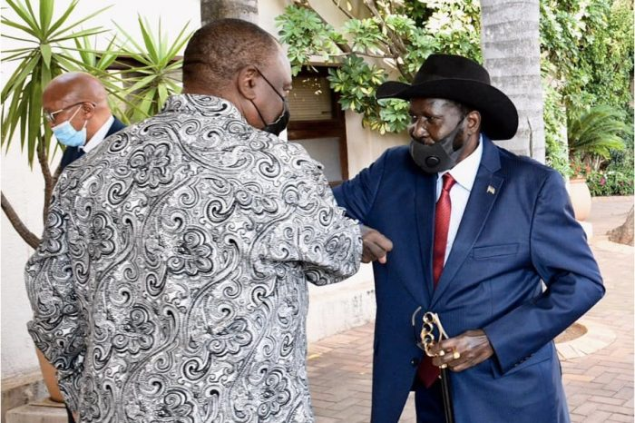 Kiir meets Ramaphosa in South Africa