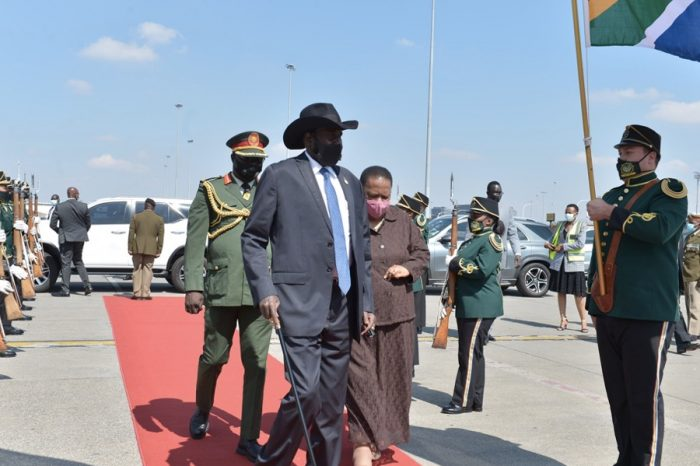 Kiir returned to Juba after a 3-day working visit to South Africa
