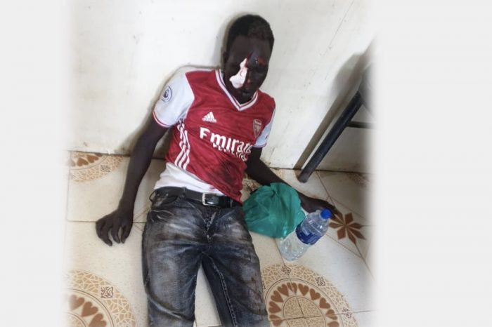 Wani Igga's guards beat up a fellow South Sudanese ruthlessly for allegedly not given way to his boss