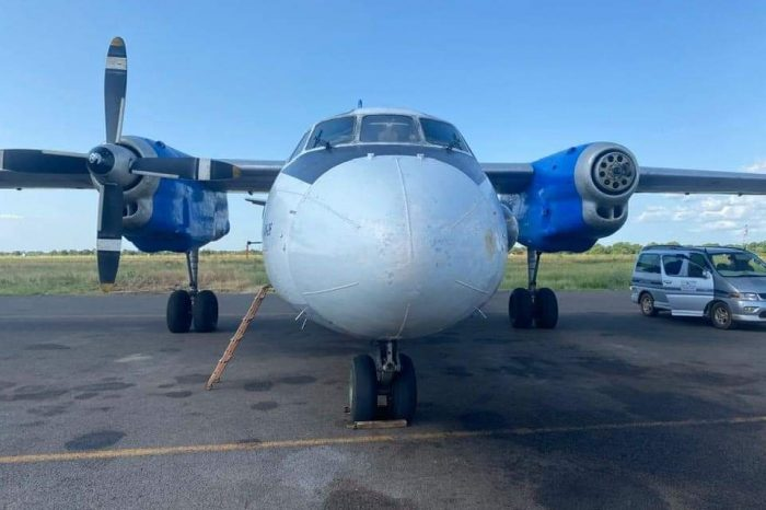 Private own AN 26 companies to cease operation in S. Sudan until further notice as a Cargo plane loses propeller midair