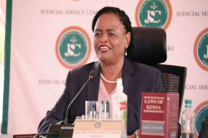 President Kenyatta appoints Martha Koome as Kenya's first woman Chief Justice