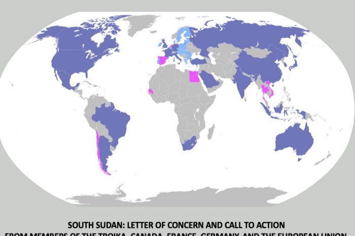 South Sudan: Letter of Concern and Call to action from members of the Troika, Canada, France, Germany, and the European Union