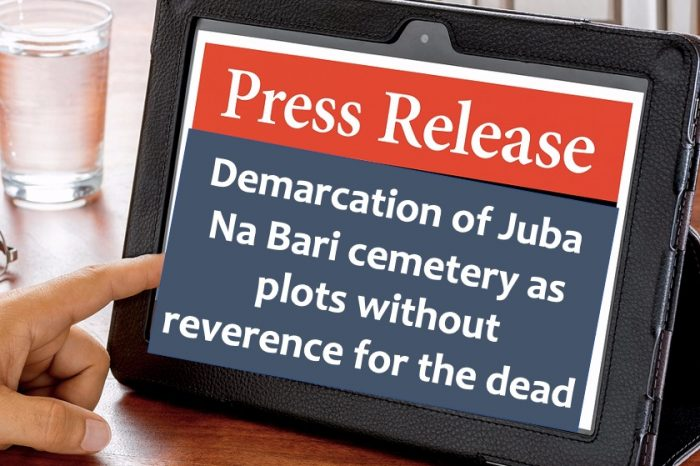 Demarcation of Juba Na Bari cemetery as plots without reverence for the dead