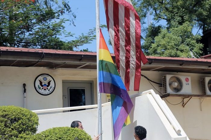 """Facebook Watch: The majority says """"We don't celebrate that in our country,"""" A few say """"US compound is US territory""""-South Sudanese reactions to LGBTQ flag at US embassy in Juba"""