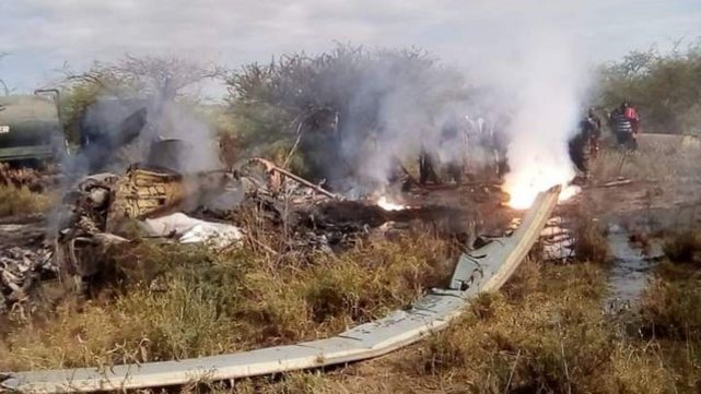 Police: 17 soldiers dead when helicopter crashes in Kenya