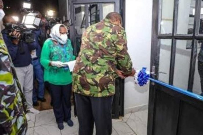 Kenyans accuse the president of violating curfew restrictions.