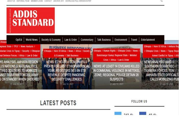 Ethiopian Regulator Suspends Addis Standard News Website