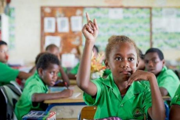 Kenya's president calls on the international community to invest in education.