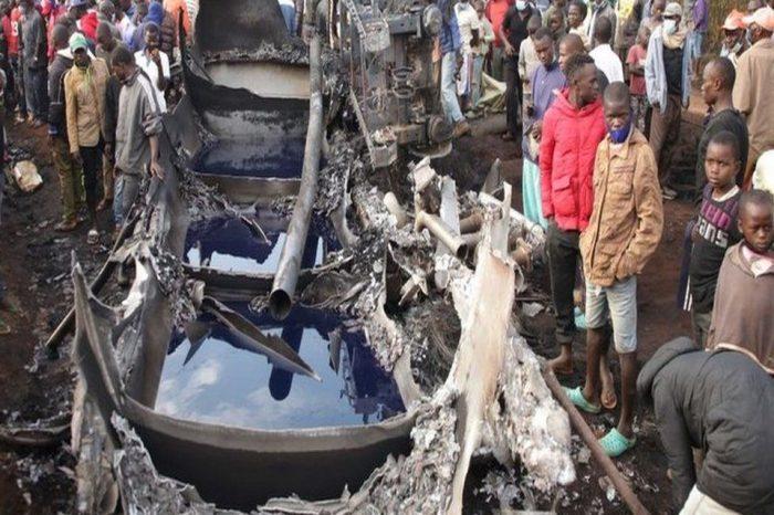 Kenyan fuel tanker explodes, killing at least 13