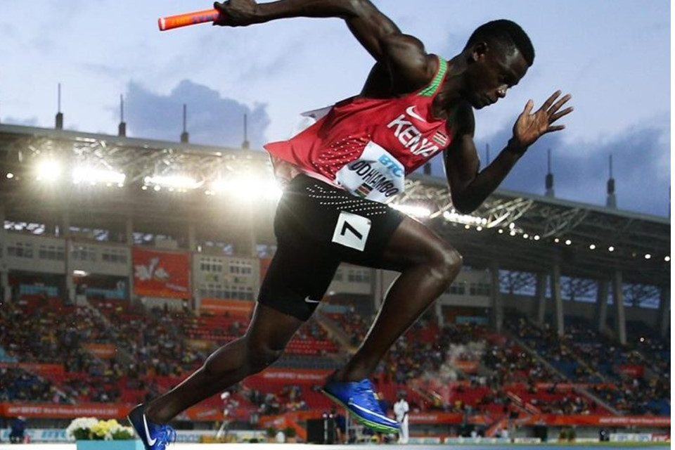 Mark Otieno Odhiambo of Kenya fails drug test.