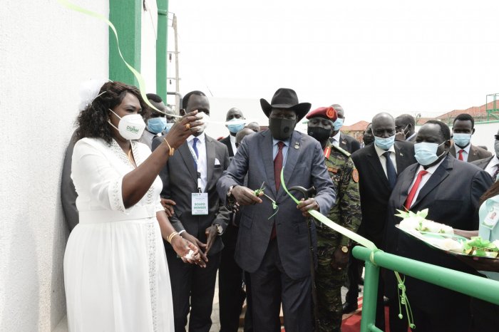 Kiir commissioned first indigenous telecom company
