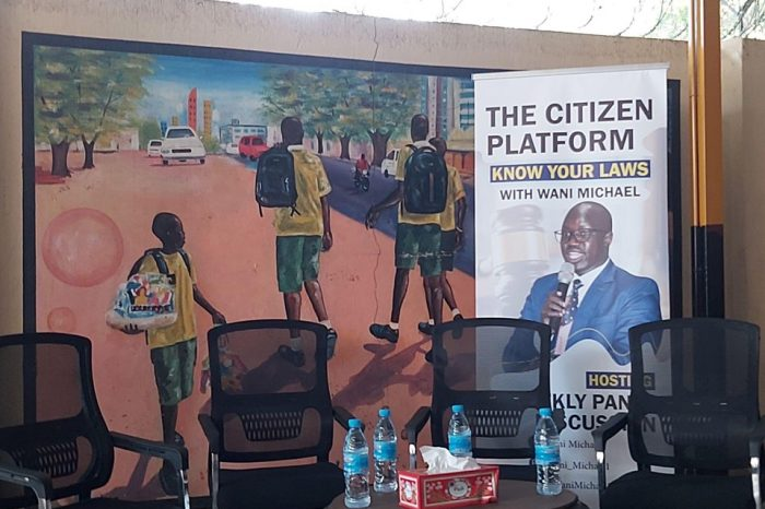 """""""You can't discuss South Sudan's constitution""""-NSS officers tell Wani, a Juba-based activist, as they stormed his event venue."""