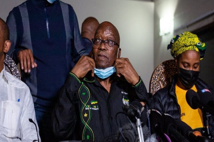 Jacob Zuma: South Africa's former president hands himself over to police