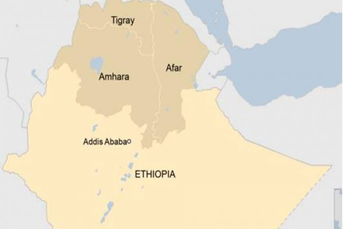 At least 12 people are killed in an attack on an Ethiopian health center.