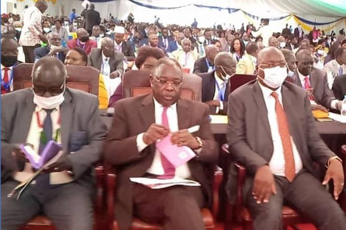 The South Sudanese legislature takes the oath of office.