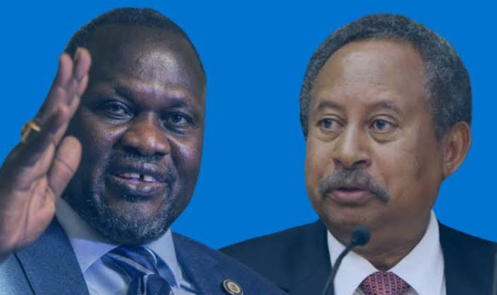 Machar, Hamdok hold 2nd meeting on  South Sudan's peace implementation