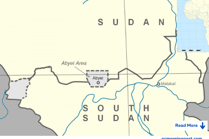Sudanese leaders and a UN representative meet to address the problem of Abyei.